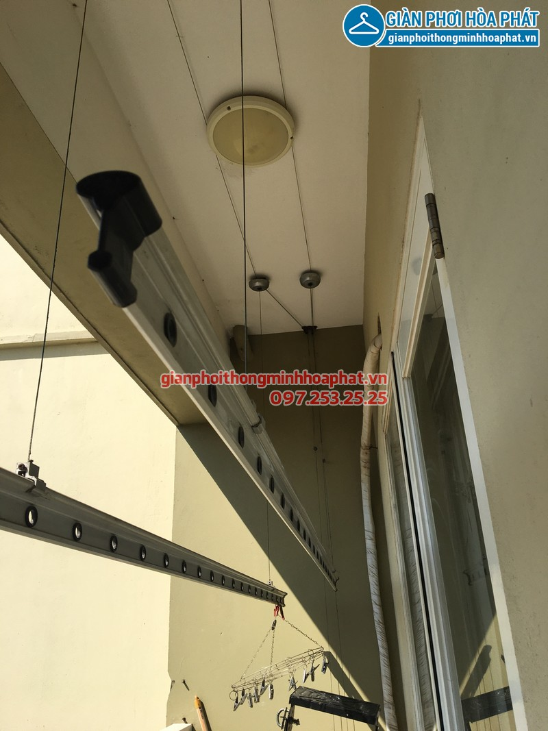 Sửa giàn phơi thông minh P603,chung cư Sunrise 3 Phúc Đồng, Long Biên