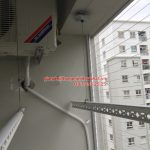 Thi công lưới an toàn ban công cho nhà chị Ngọc P812A, sảnh A, E1, Ecohome 1, Bắc Từ Liêm