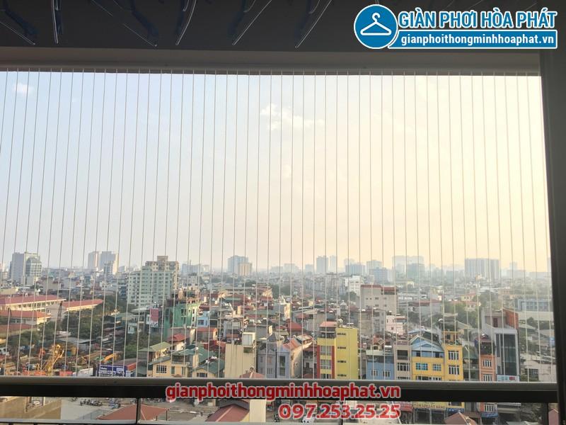 Thi công lưới an toàn ban công cho nhà anh Tùng tòa HH1, chung cư 102 Trường Chinh