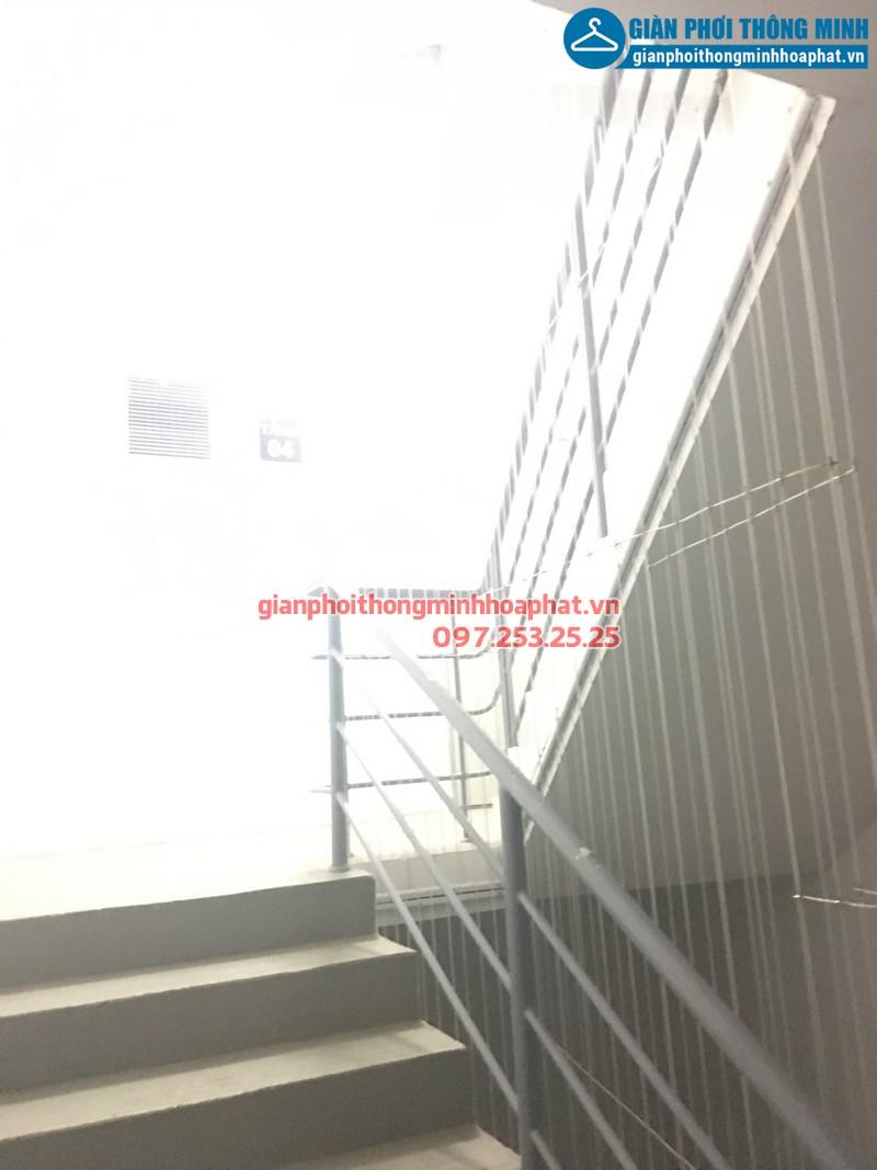 Lắp đặt lưới an toàn cầu thang cho chung cư Dương Nội, Hà Đông, Hà Nội