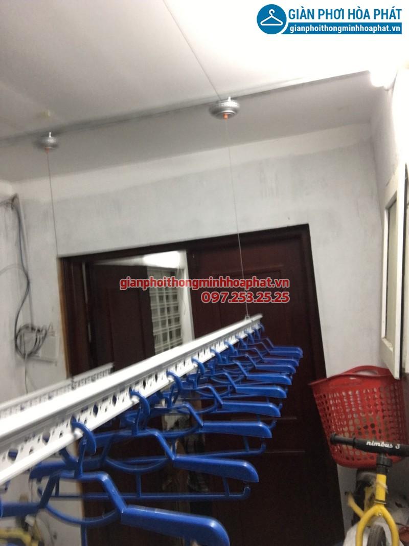 Lắp giàn phơi thông minh cho nhà anh Chiến tại ngõ 34, Xuân La, Tây Hồ