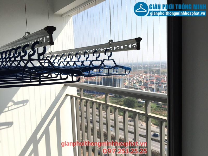 Lắp giàn phơi thông minh cho nhà anh Vinh chung cư Gamuda City, Hoàng Mai