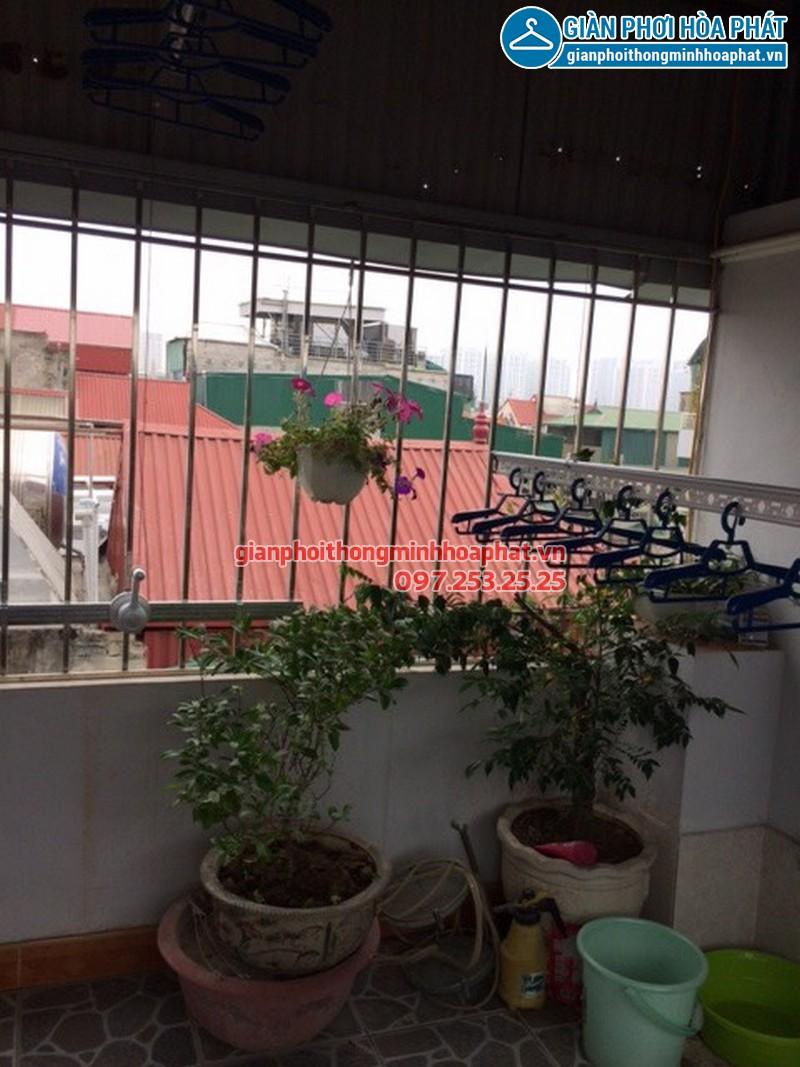 Lắp giàn phơi cho nhà chị Lan, phố Thanh Nhàn, quận Hai Bà Trưng
