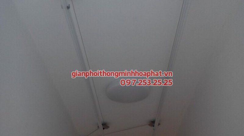 Lắp giàn phơi thông minh cho nhà chi Liên tại chung cư Thạch Bàn, Long Biên