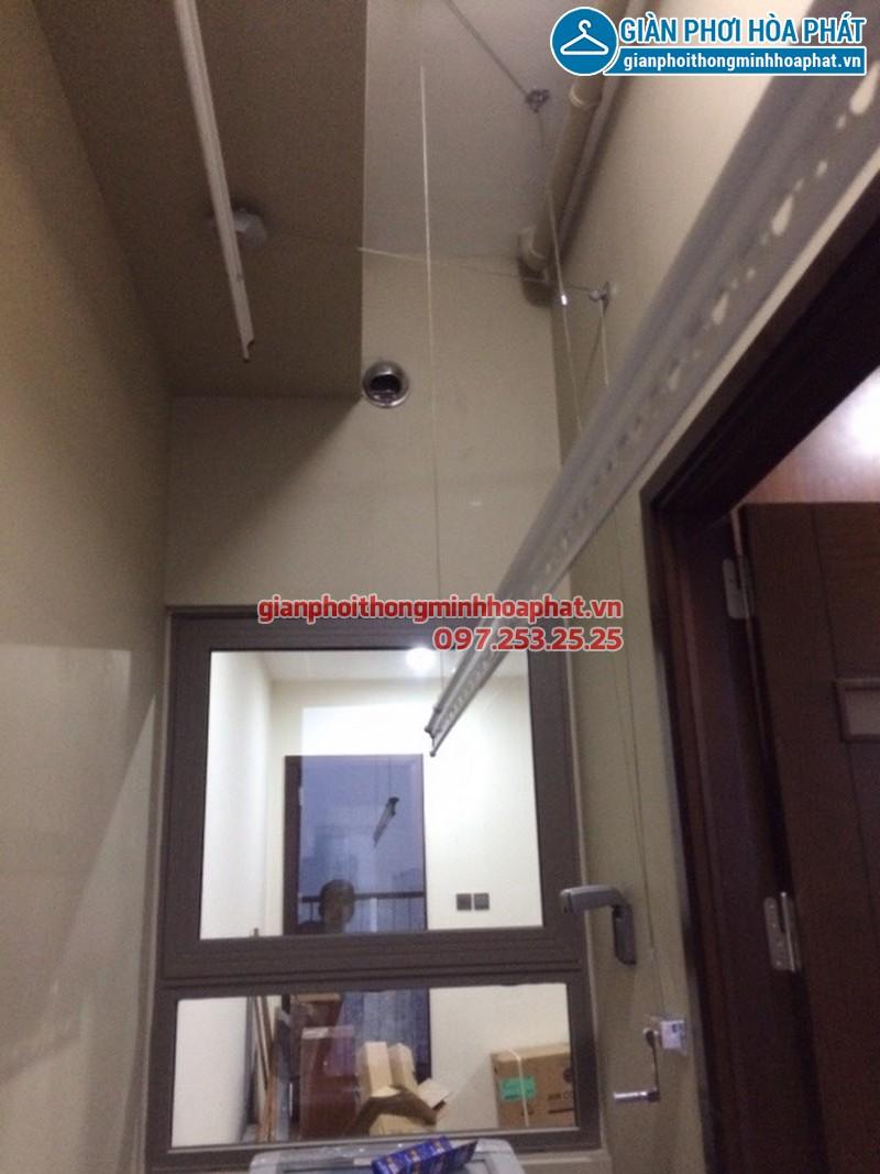 Lắp giàn phơi thông minh nhà chị Mai toà nhà Home City khu đô thị Trung Hoà Nhân Chính