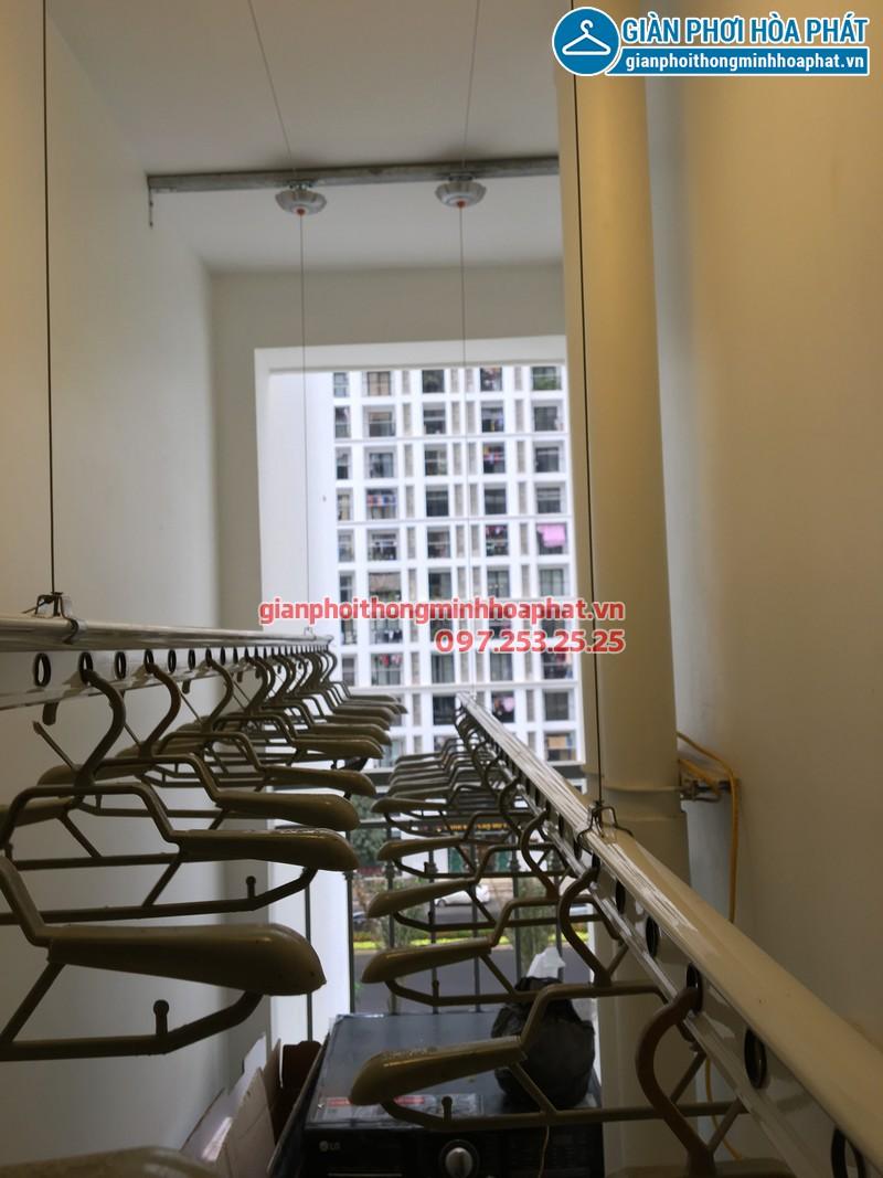 Lắp giàn phơi thông minh cho nhà cô Liên, P517, Park 1, Time City
