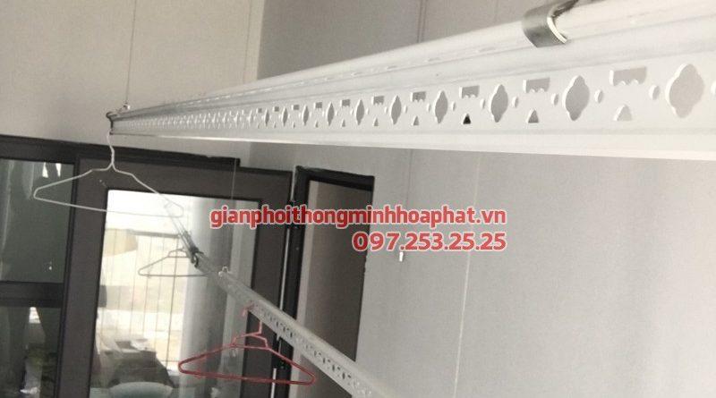 Lắp giàn phơi thông minh cho nhà anh Dũng, P0707, tòa B, chung cư HH2 Dương Nội