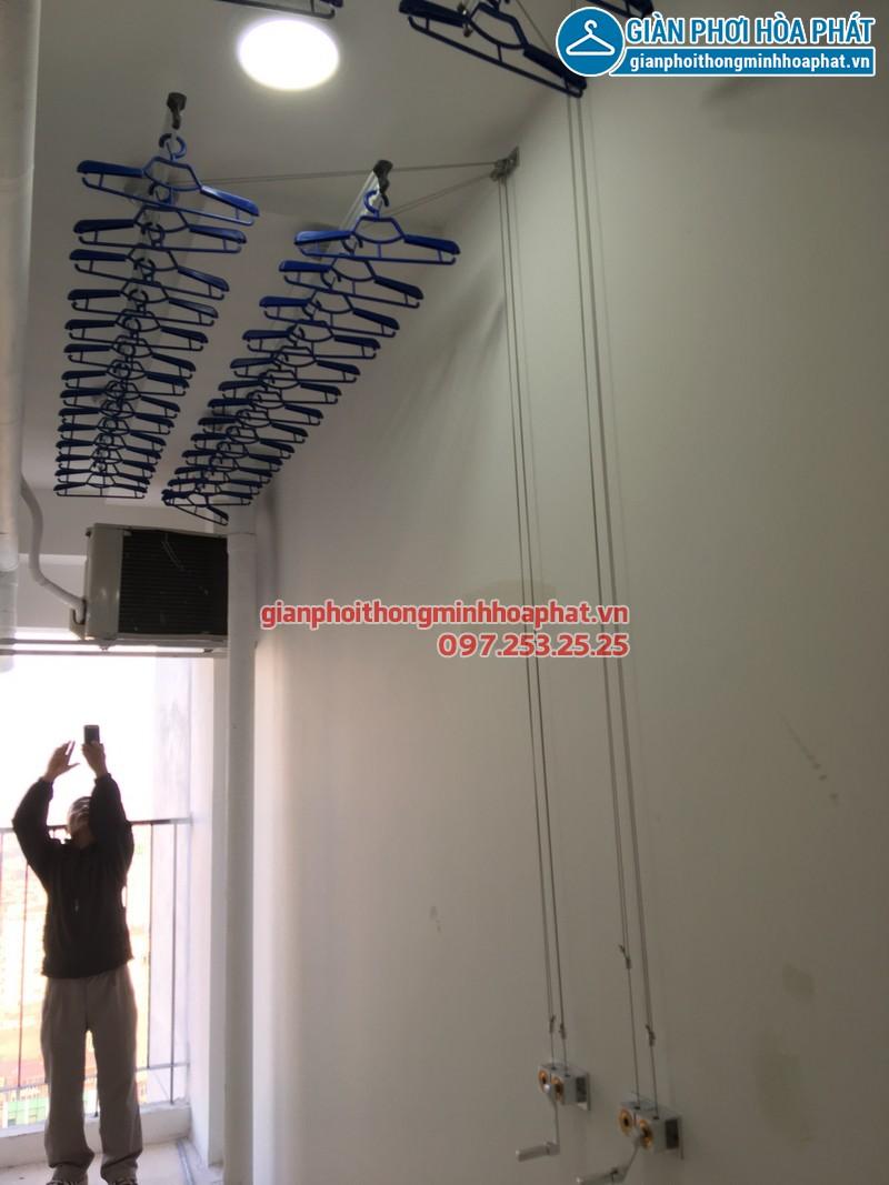 Lắp giàn phơi thông minh phòng 06, tầng 24, chung cư Golden West