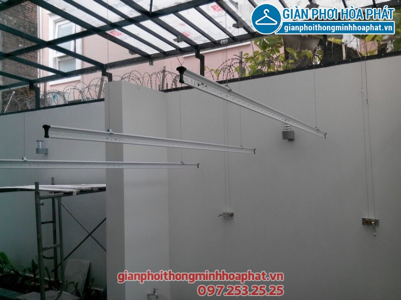Lắp giàn phơi thông minh cho nhà chú Vinh tại quận Đống Đa, thành phố Hà Nội