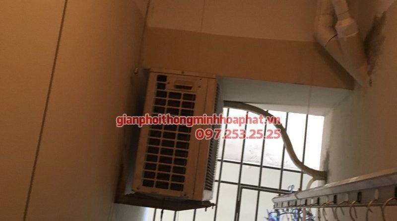 Sửa giàn phơi thông minh nhà chị Quỳnh CT8 chung cư Đại Thanh, Thanh Trì, Hà Nội