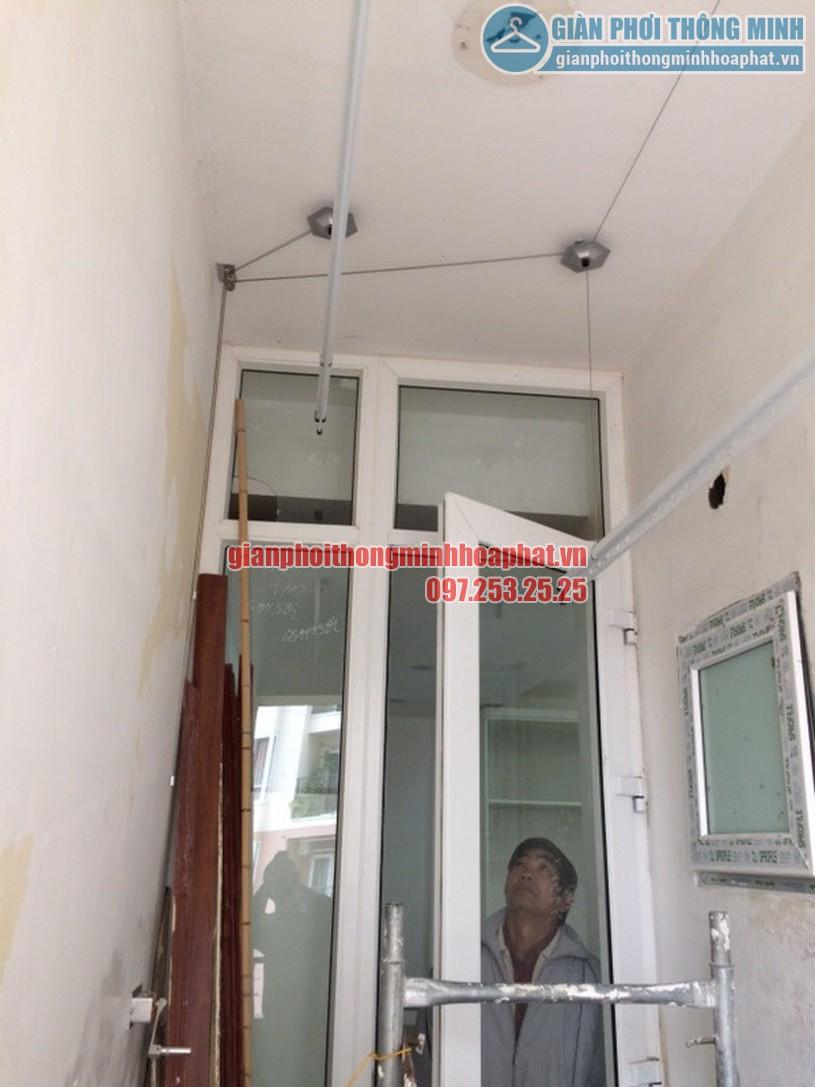 Hoàn thiện lắp đặt giàn phơi thông minh nhà anh Quyền chung cư Resco Cổ Nhuế-04