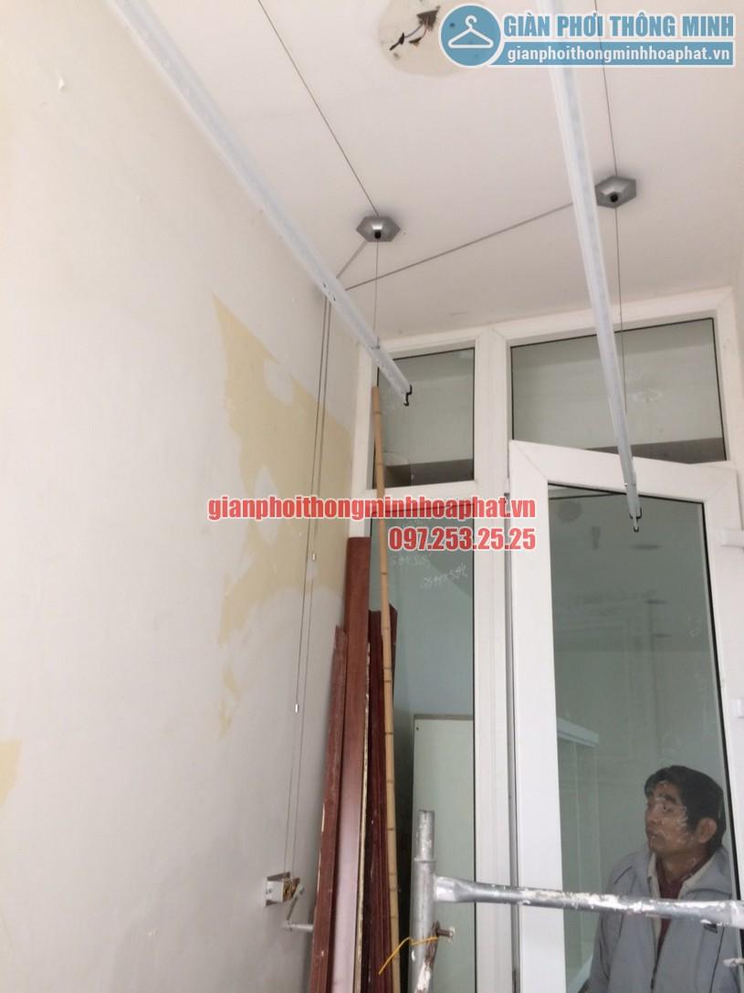 Hoàn thiện lắp đặt giàn phơi thông minh nhà anh Quyền chung cư Resco Cổ Nhuế-05
