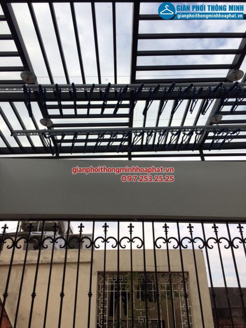 Lắp giàn phơi thông minh cho nhà chị Vân, CT19 khu đô thị Việt Hưng