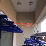 Thi công lắp đặt giàn phơi và lưới an toàn nhà chú Đức P906 CT7A khu đô thị Đặng Xá, Gia Lâm
