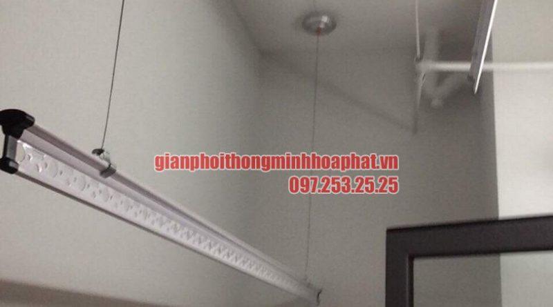 Bàn giao bộ giàn phơi thông minh HP950 nhà chị Lan P1401 toà The One khu Gamuda, Hoàng Mai