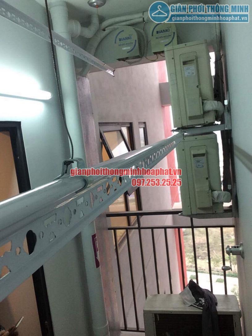 Bàn giao bộ giàn phơi thông minh HP950 nhà chị Lan P1401 toà The One khu Gamuda, Hoàng Mai-03