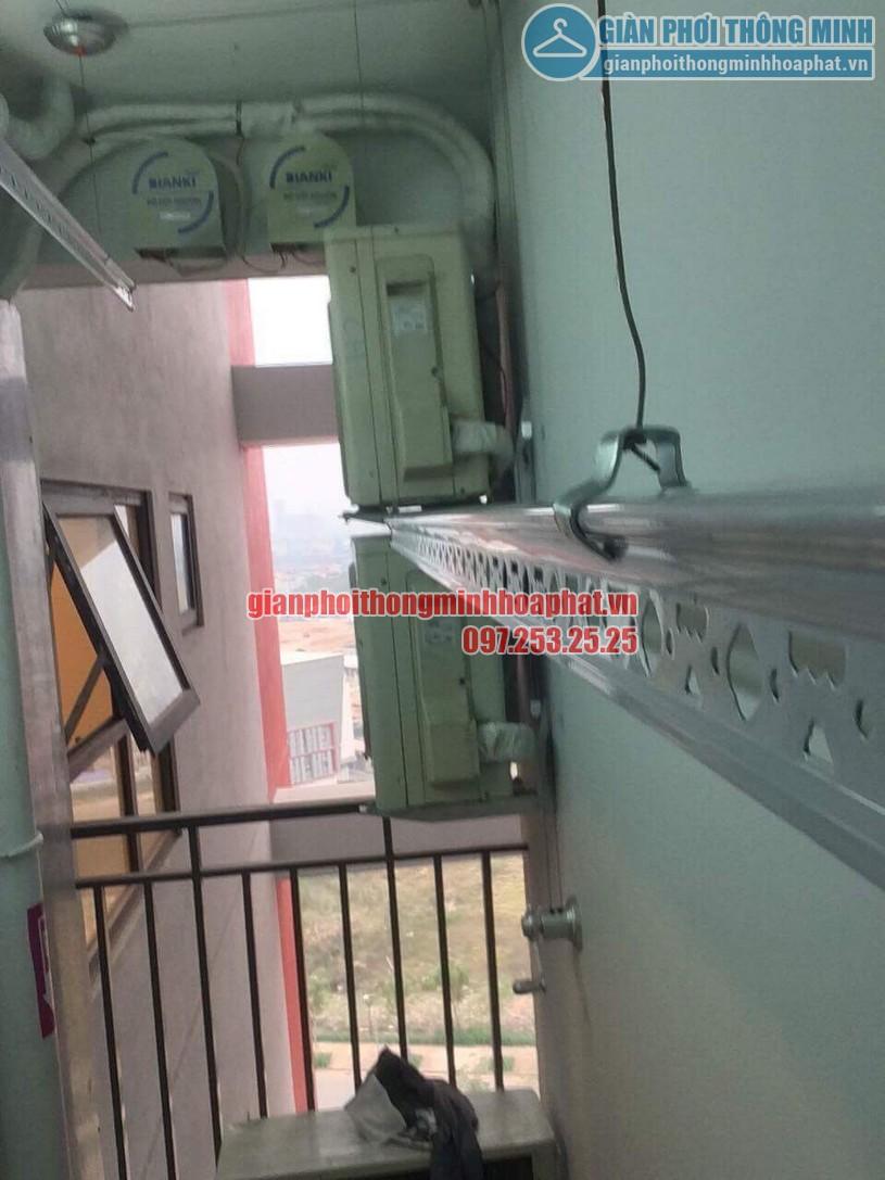 Bàn giao bộ giàn phơi thông minh HP950 nhà chị Lan P1401 toà The One khu Gamuda, Hoàng Mai-04