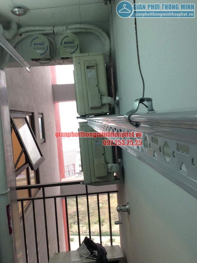 Bàn giao bộ giàn phơi thông minh HP950 nhà chị Lan P1401 toà The One khu Gamuda, Hoàng Mai-05