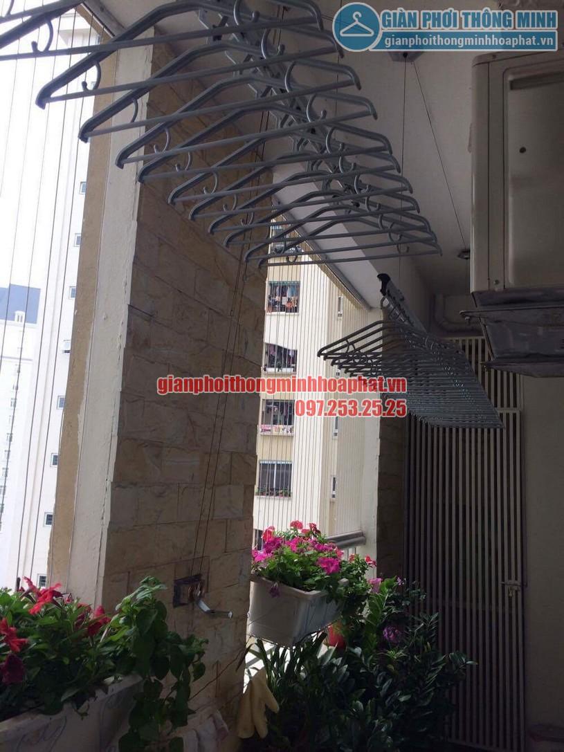 Hoàn thiện bàn giao giàn phơi quần áo nhà chị Thanh tòa CT2 Nam Cường, Cổ Nhuế-05