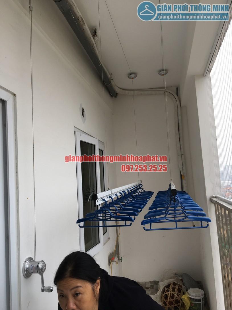 Hoàn thiện lắp đặt giàn phơi nhà cô Nguyệt chung cư Đông Đô, Hoàng Quốc Việt, Cầu Giấy, Hà Nội-03