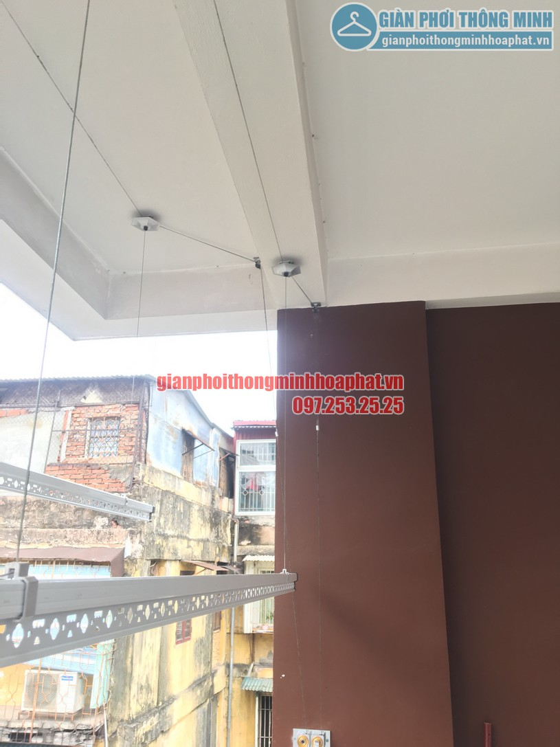 Hoàn thiện lắp đặt giàn phơi quần áo thông minh nhà chị Liễu Tạ Quang Bửu, Hai Bà Trưng-05