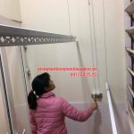 Hoàn thiện lắp đặt giàn phơi thông minh nhà chị Hoa khu đô thị Đặng Xá, Gia Lâm