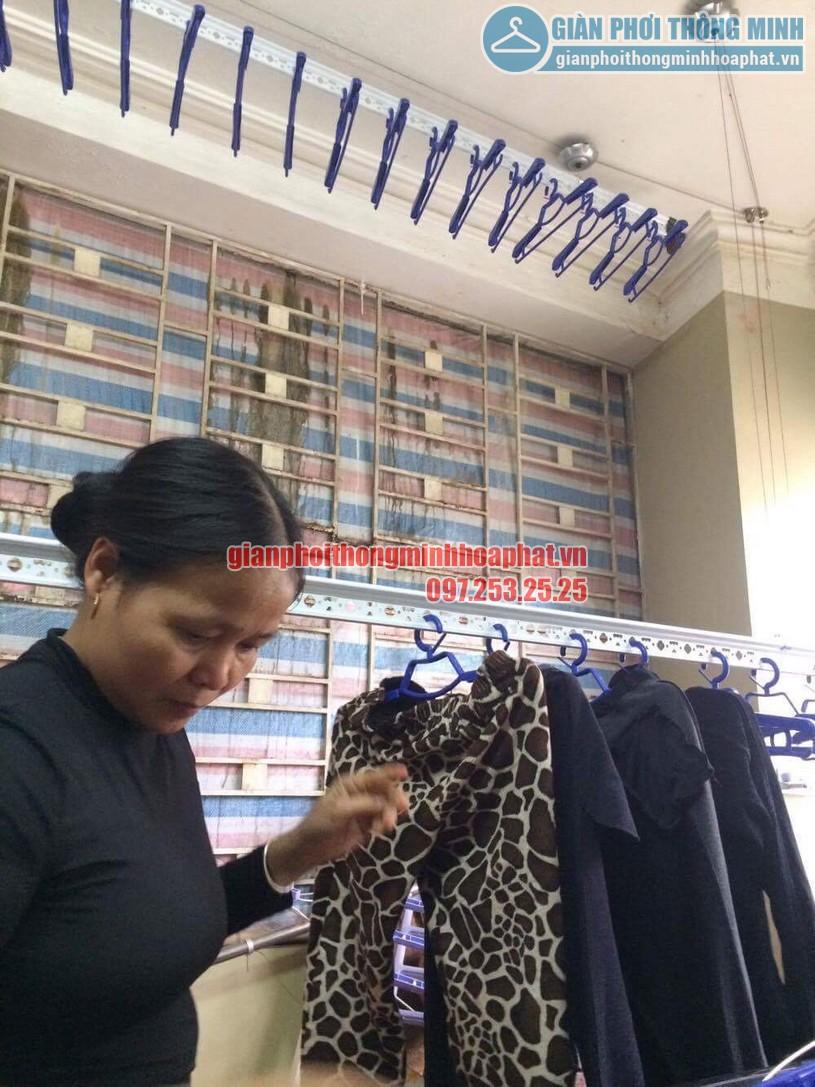 Hoàn thiện lắp đặt giàn phơi thông minh nhà chị Nhung Yên Hòa, Cầu Giấy-02