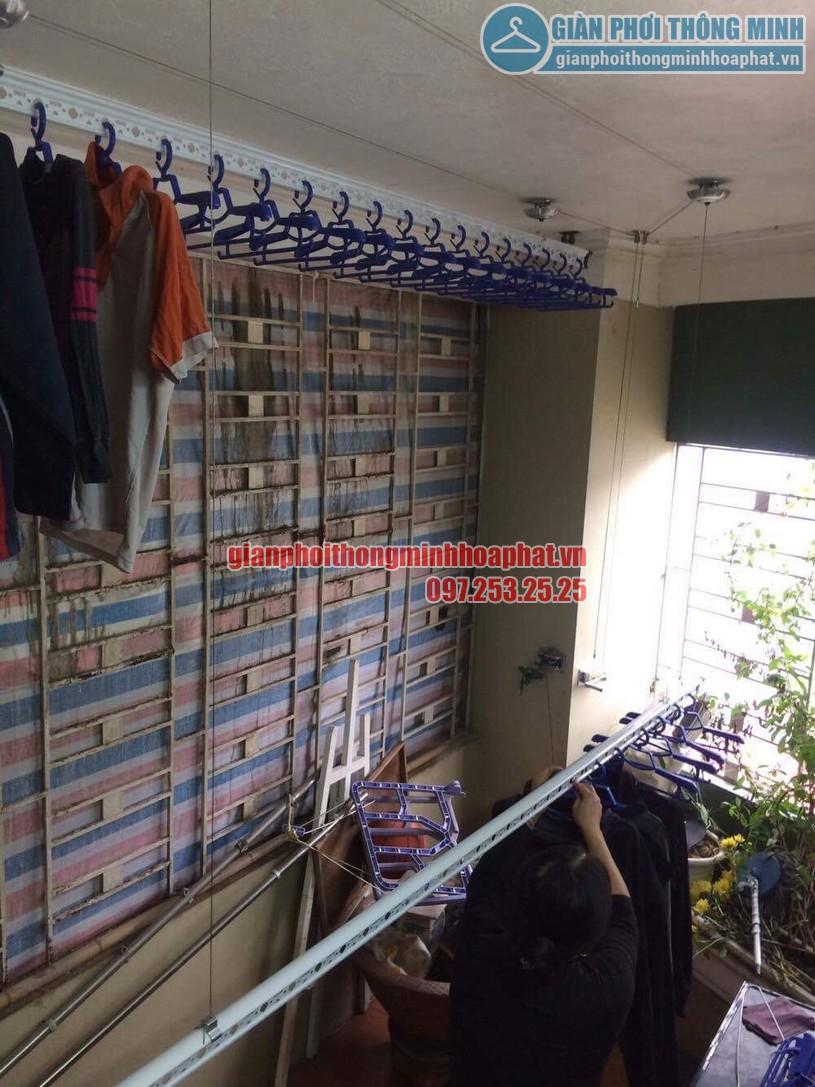 Hoàn thiện lắp đặt giàn phơi thông minh nhà chị Nhung Yên Hòa, Cầu Giấy-03