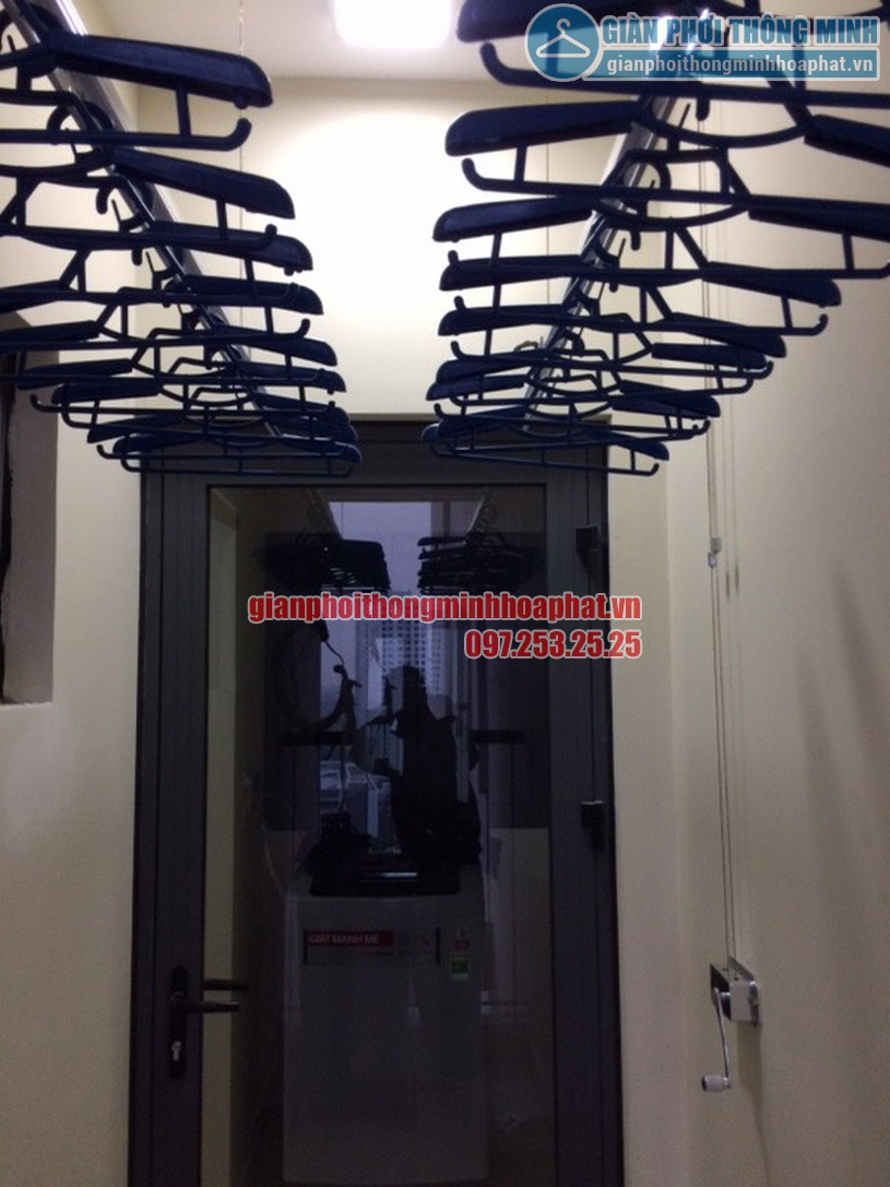 Hoàn thiện lắp đặt giàn phơi thông minh nhà chị Thơm Helios Tower, Tam Trinh, quận Hoàng Mai-04