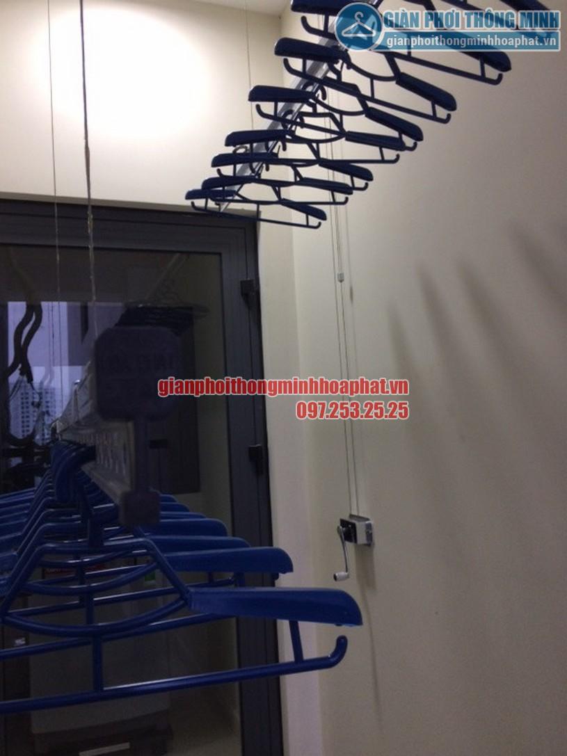 Bộ tời tay quay giàn phơi thông minh HP888B, điều khiển 2 thanh phơi -01