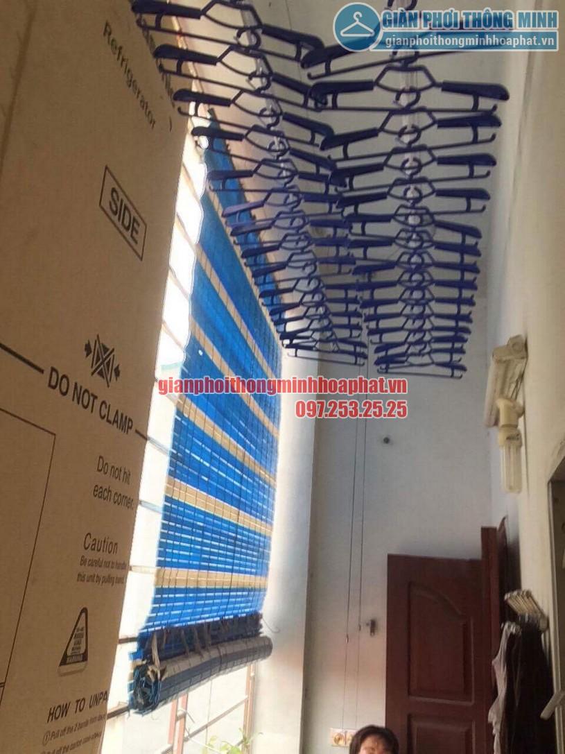 Không gian phơi thoáng đẹp hơn nhờ lắp đặt giàn phơi nhà anh Hưng, Hoàng Mai, Hà Nội-01