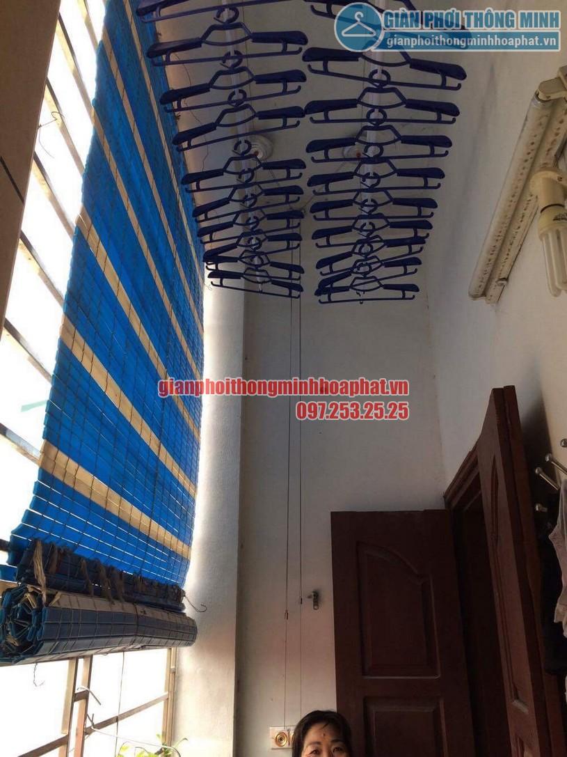 Không gian phơi thoáng đẹp hơn nhờ lắp đặt giàn phơi nhà anh Hưng, Hoàng Mai, Hà Nội-04
