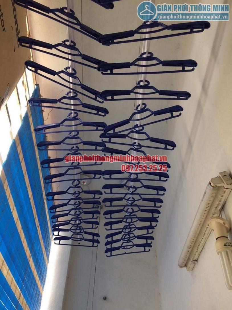 Không gian phơi thoáng đẹp hơn nhờ lắp đặt giàn phơi nhà anh Hưng, Hoàng Mai, Hà Nội-05