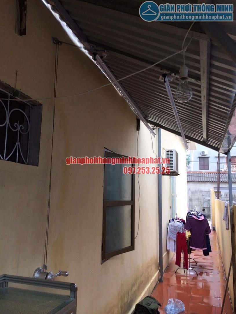 Lắp đặt bộ giàn phơi thông minh HP950 trên nền mái tôn chéo tại nhà chị Hiền Bắc Từ Liêm-04
