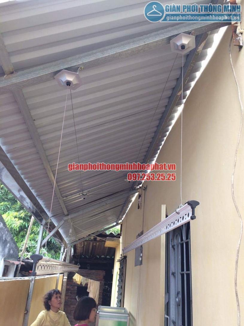 Lắp đặt bộ giàn phơi thông minh HP950 trên nền mái tôn chéo tại nhà chị Hiền Bắc Từ Liêm-05