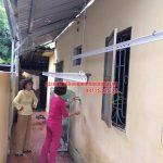 Lắp đặt bộ giàn phơi thông minh HP950 trên nền mái tôn chéo tại nhà chị Hiền Bắc Từ Liêm