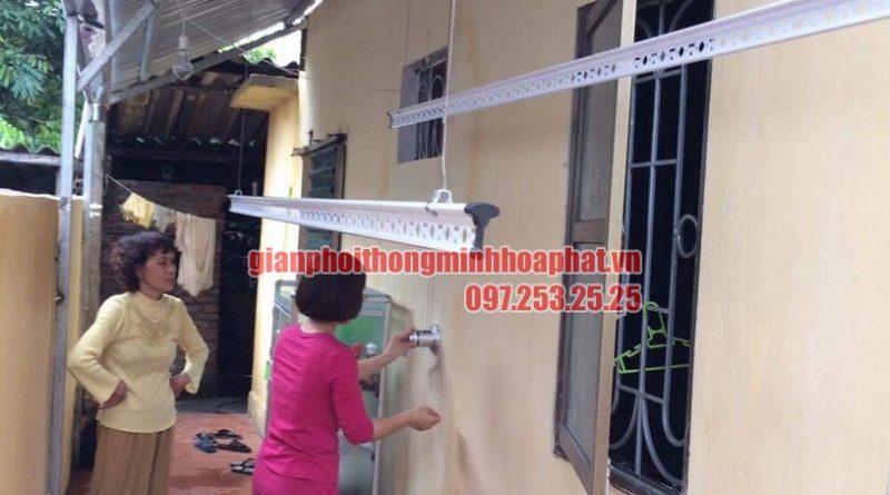 Lắp đặt bộ giàn phơi thông minh HP950 trên nền mái tôn chéo tại nhà chị Hiền Bắc Từ Liêm-07