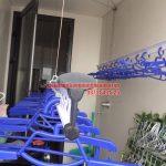Lắp đặt giàn phơi chung cư nhà bác Tú tòa Mipec Riverside, Ngọc Lâm, Long Biên, Hà Nội