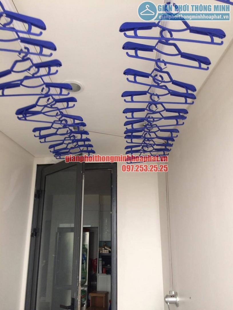Bộ giàn phơi thông minh HP950 được lắp đặt trên trần bê tông -01
