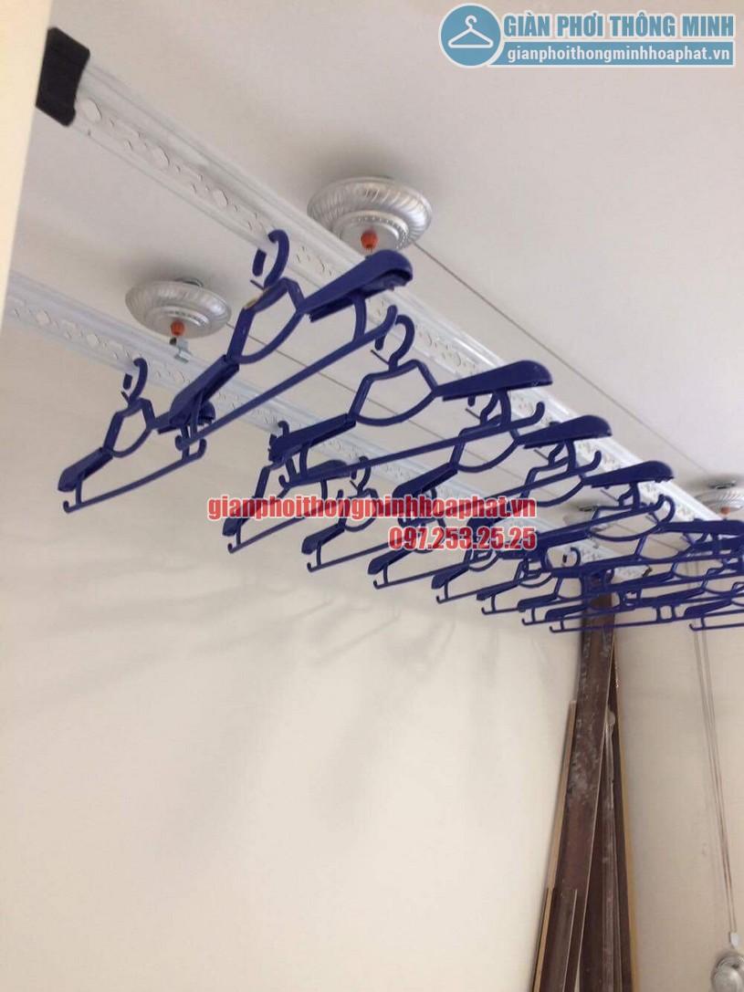 Lắp đặt giàn phơi đồ nhà anh Hoàn chung cư N04 - B1 Dịch Vọng, Cầu Giấy -02