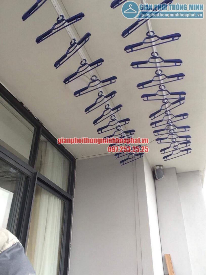 Lắp đặt giàn phơi nhà anh Tuấn P2102, Tháp B, tòa Newskyline, đô thị Văn Quán-05