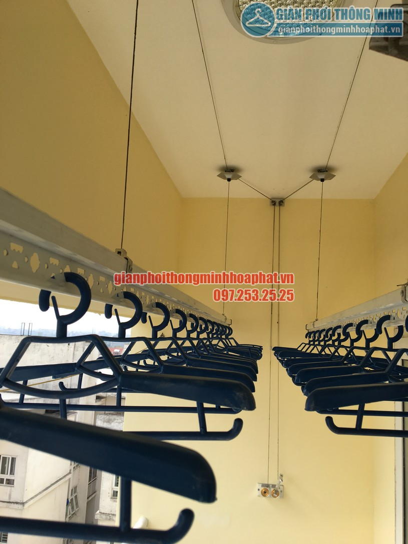 Lắp đặt giàn phơi quần áo thông minh nhà chú Thuận CT18- KĐT Việt Hưng, Long Biên, Hà Nội-01