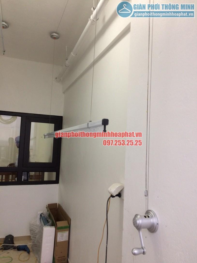Lắp đặt giàn phơi quần áo thông minh nhà cô Oanh tòa Hateco Hoàng Mai, Hà Nội-01