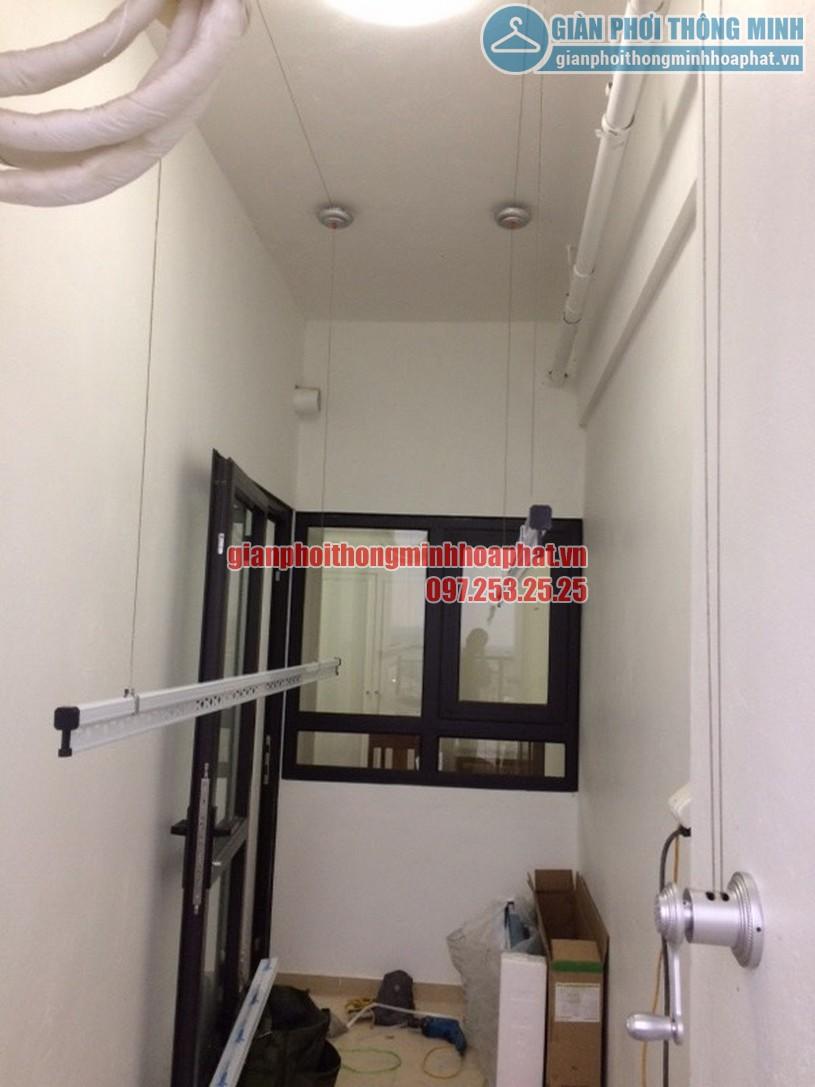 Lắp đặt giàn phơi quần áo thông minh nhà cô Oanh tòa Hateco Hoàng Mai, Hà Nội-02