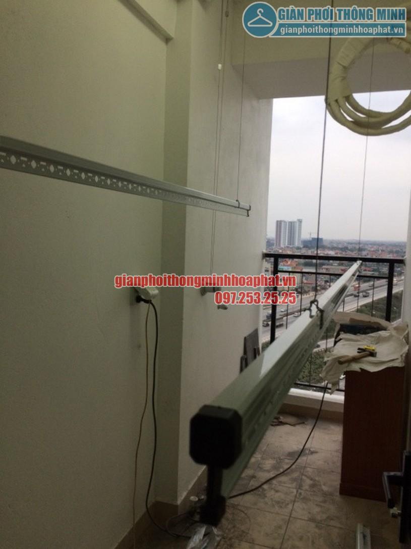 Lắp đặt giàn phơi quần áo thông minh nhà cô Oanh tòa Hateco Hoàng Mai, Hà Nội-03
