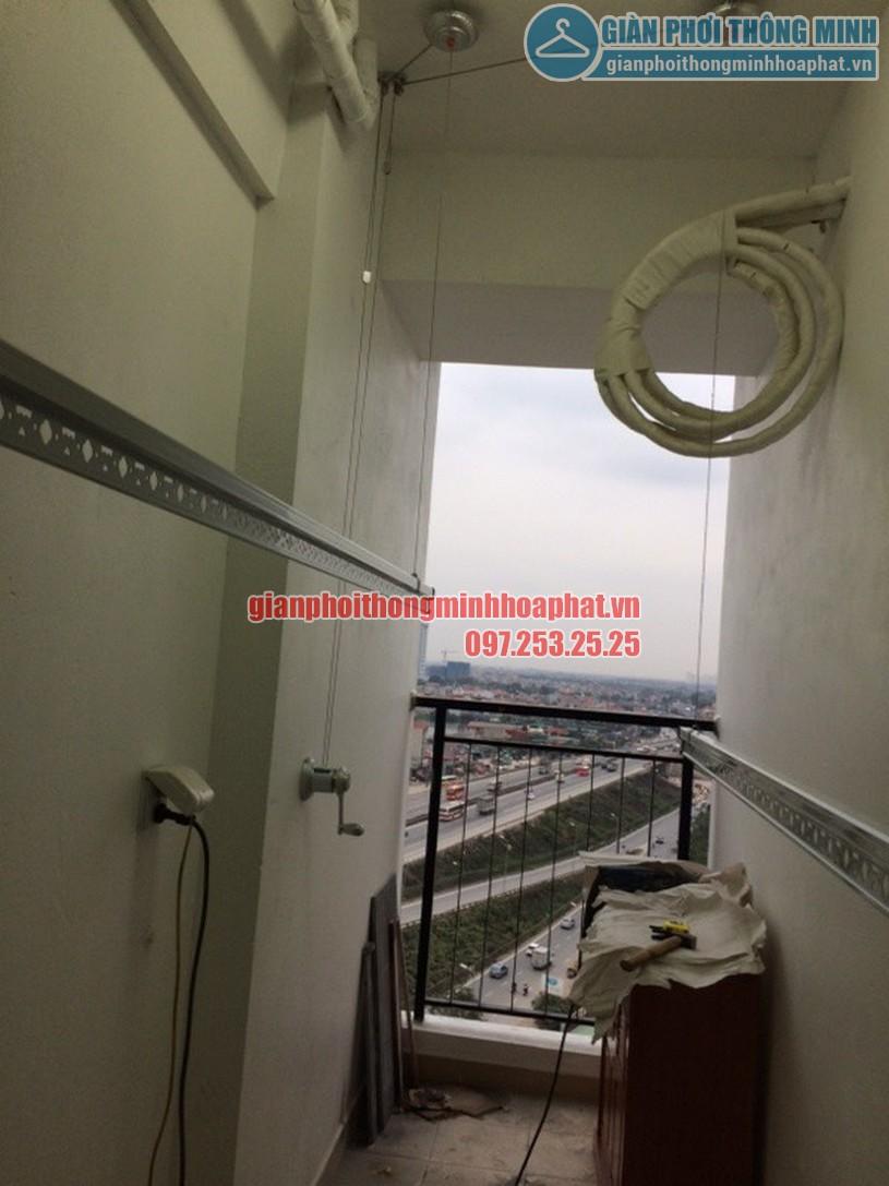 Lắp đặt giàn phơi quần áo thông minh nhà cô Oanh tòa Hateco Hoàng Mai, Hà Nội-04