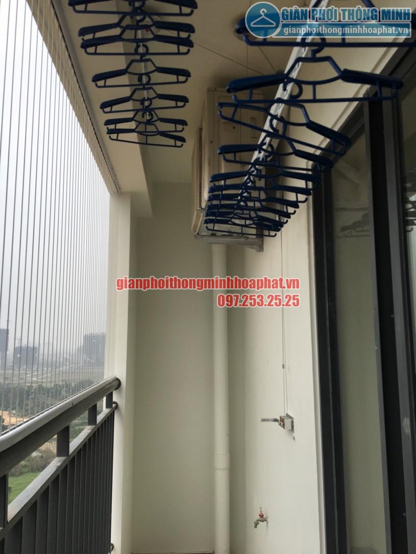 Lắp đặt giàn phơi thông minh gắn trần nhà anh Tám A2002, Khu Ecolife Tây Hồ quận Tây Hồ-01