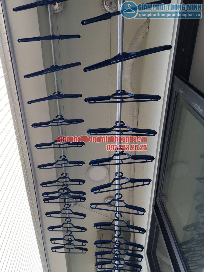 Lắp đặt giàn phơi thông minh gắn trần nhà anh Tám A2002, Khu Ecolife Tây Hồ quận Tây Hồ-02