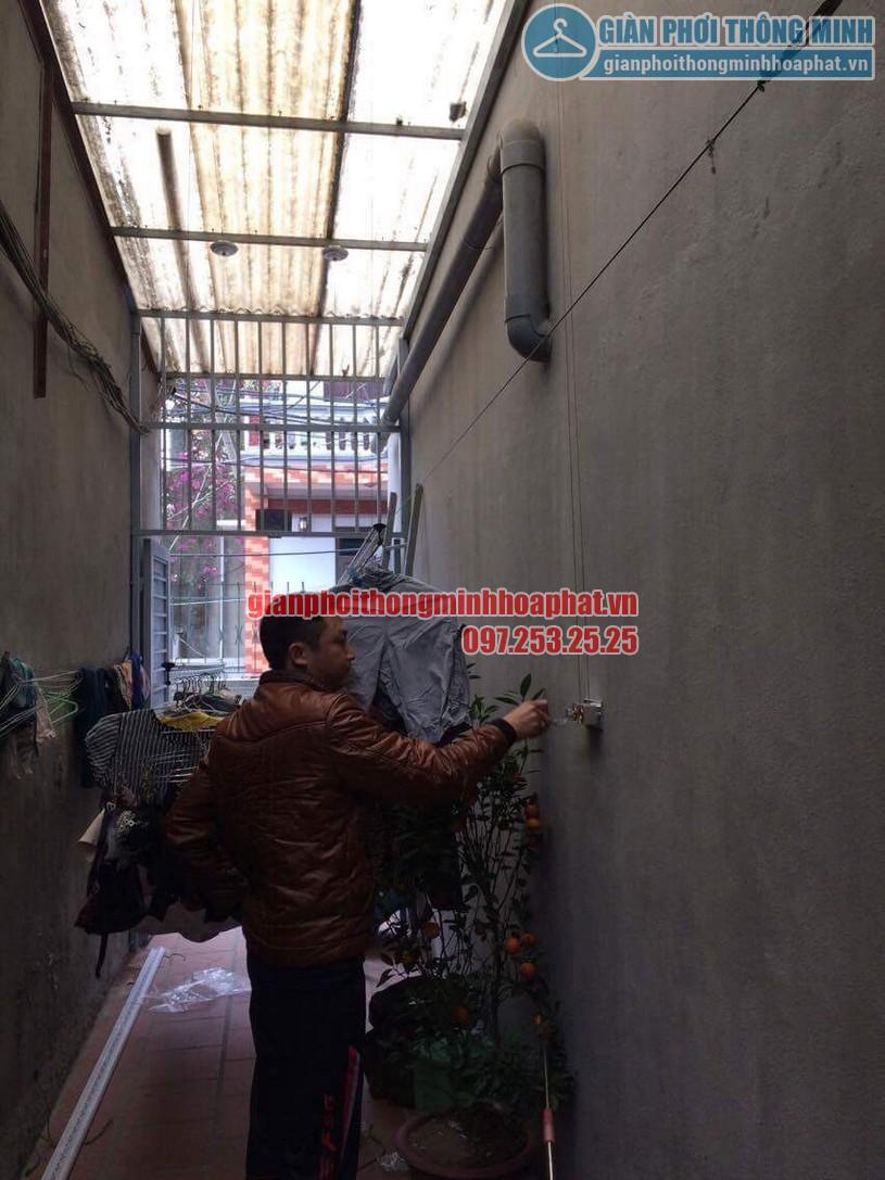 Lắp đặt giàn phơi thông minh HP999B nhà anh KhanhThanh Lân, Thanh Trì, Hoàng Mai, Hà Nội-03