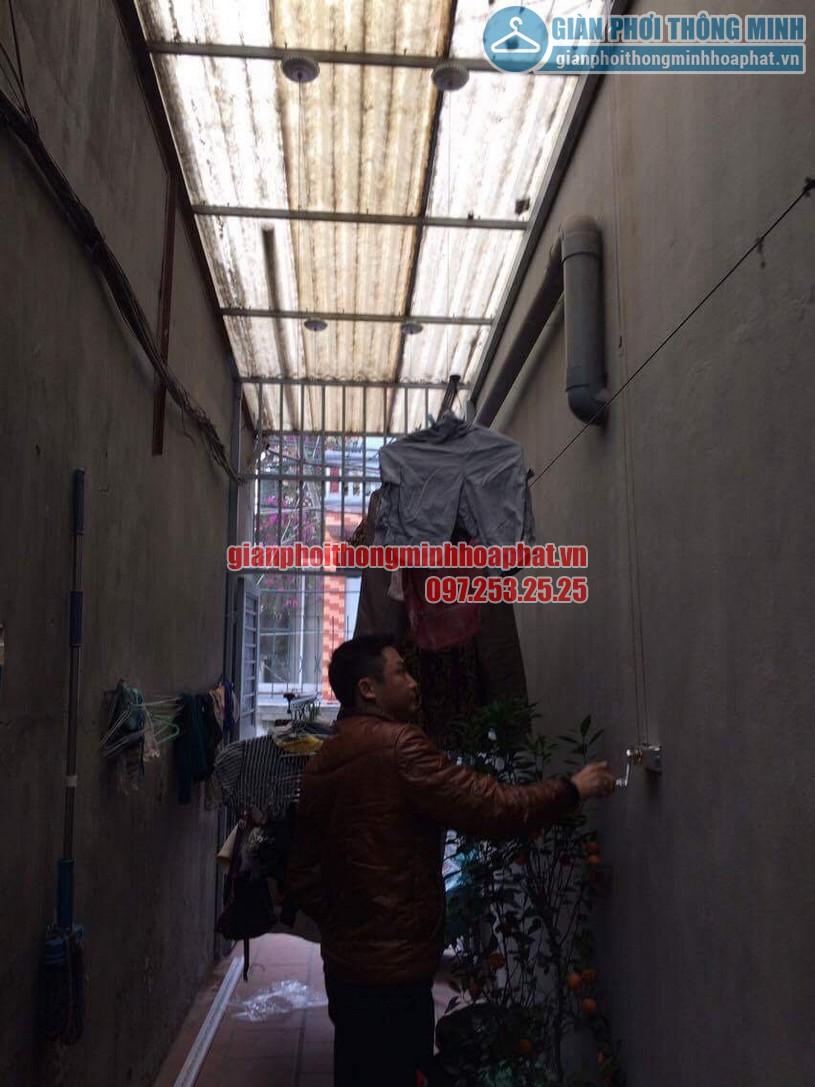 Lắp đặt giàn phơi thông minh HP999B nhà anh KhanhThanh Lân, Thanh Trì, Hoàng Mai, Hà Nội-05